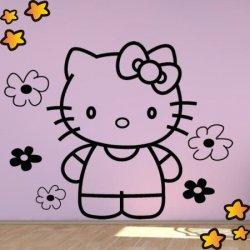 Hello Kitty entre Flores V2084