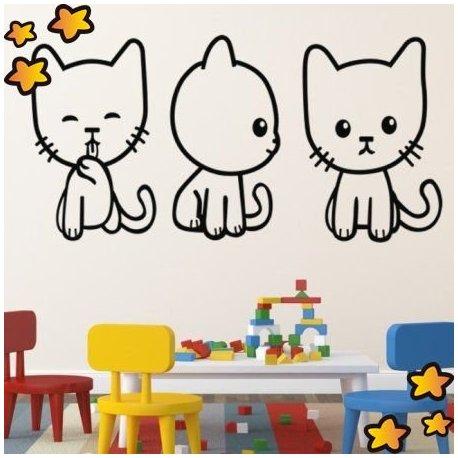 Vinilo peque os gatitos juguetones v2124 - Vinilos pequenos ...