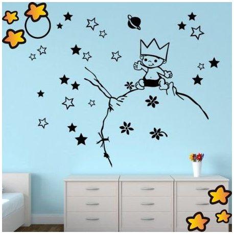 Vinilo el principito entre estrellas v1011 Vinilos de pared infantiles