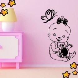 Bebé con Mariposa V1053