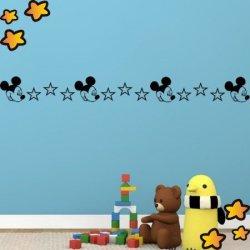 Cenefa Mickey Mouse y Estrellas V3750