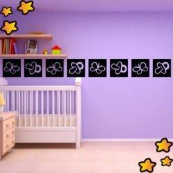 Cenefa Chupetes de Bebé y Mariposas V3753