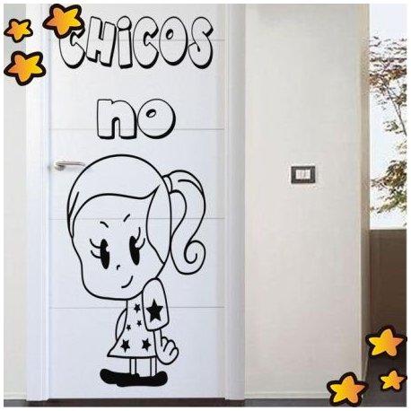 Vinilo puerta infantil chicos no v3516 for Vinilos para chicos