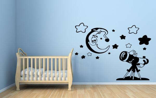 Vinilos infantiles luna y estrellas