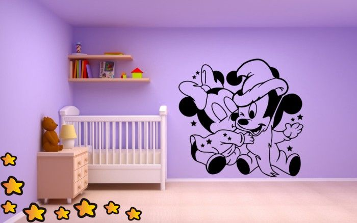 Mickey y Minnie Mouse Bebes Amorosos V1100