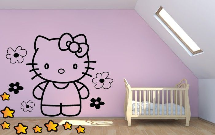 Hello Kitty entre Flores V2084